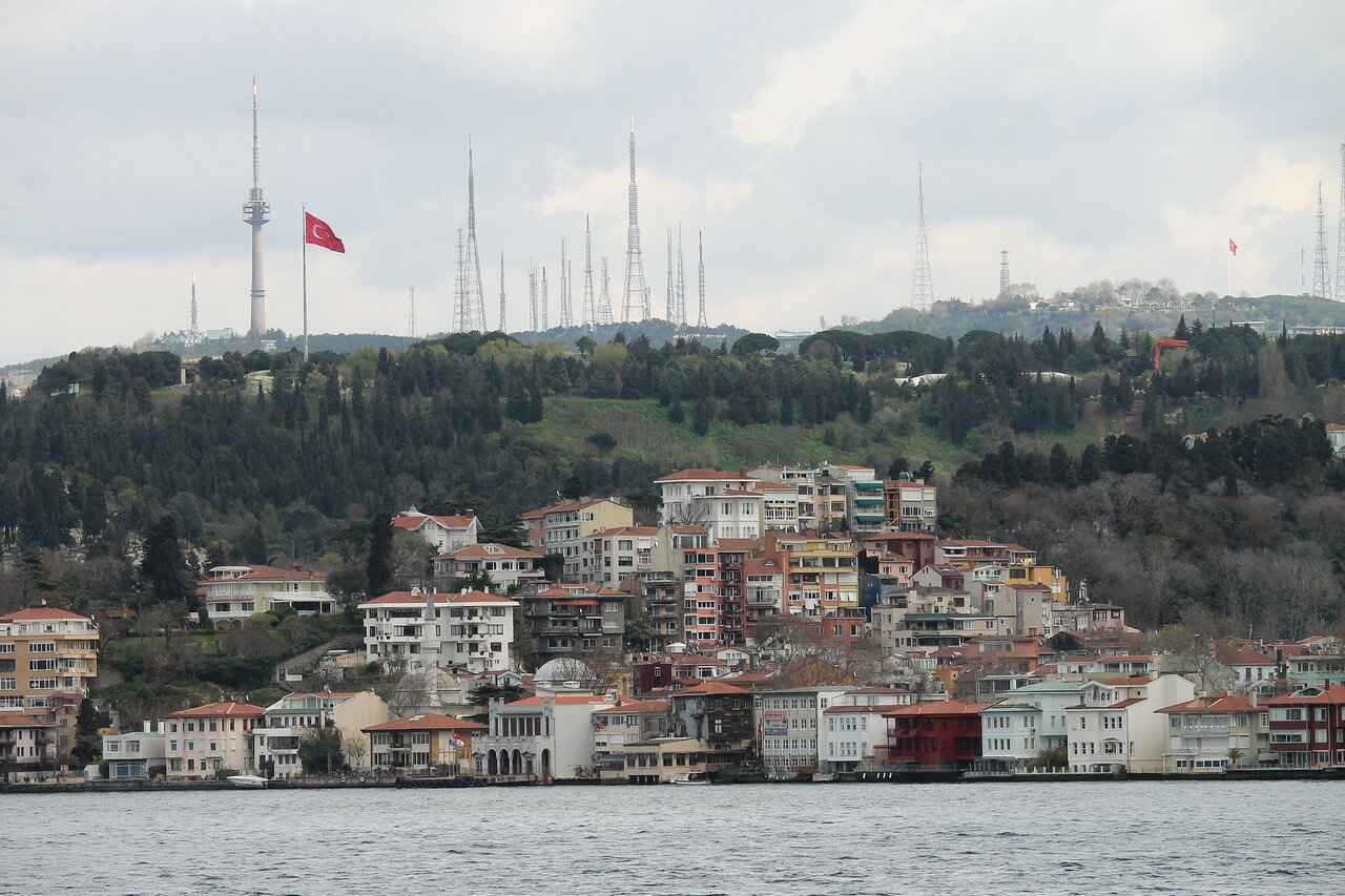 Istanbul. Uskudar, the view from the Bosphorus
