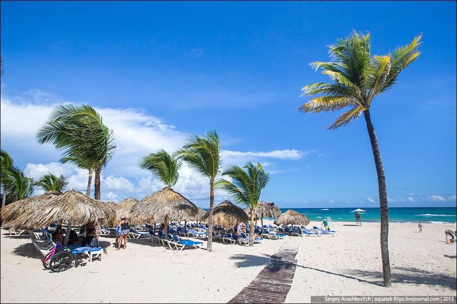 Вот только в Hard Rock пальмы не подходят к самому океану, как на многих других пляжах. И волны дост