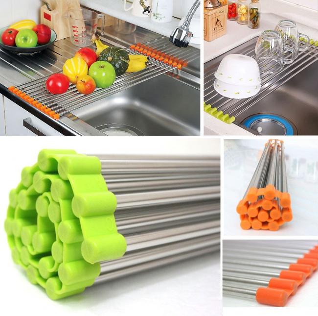 © ebay  Портативная складная полка для сушки продуктов ипосуды. Ееможно установить накухонн