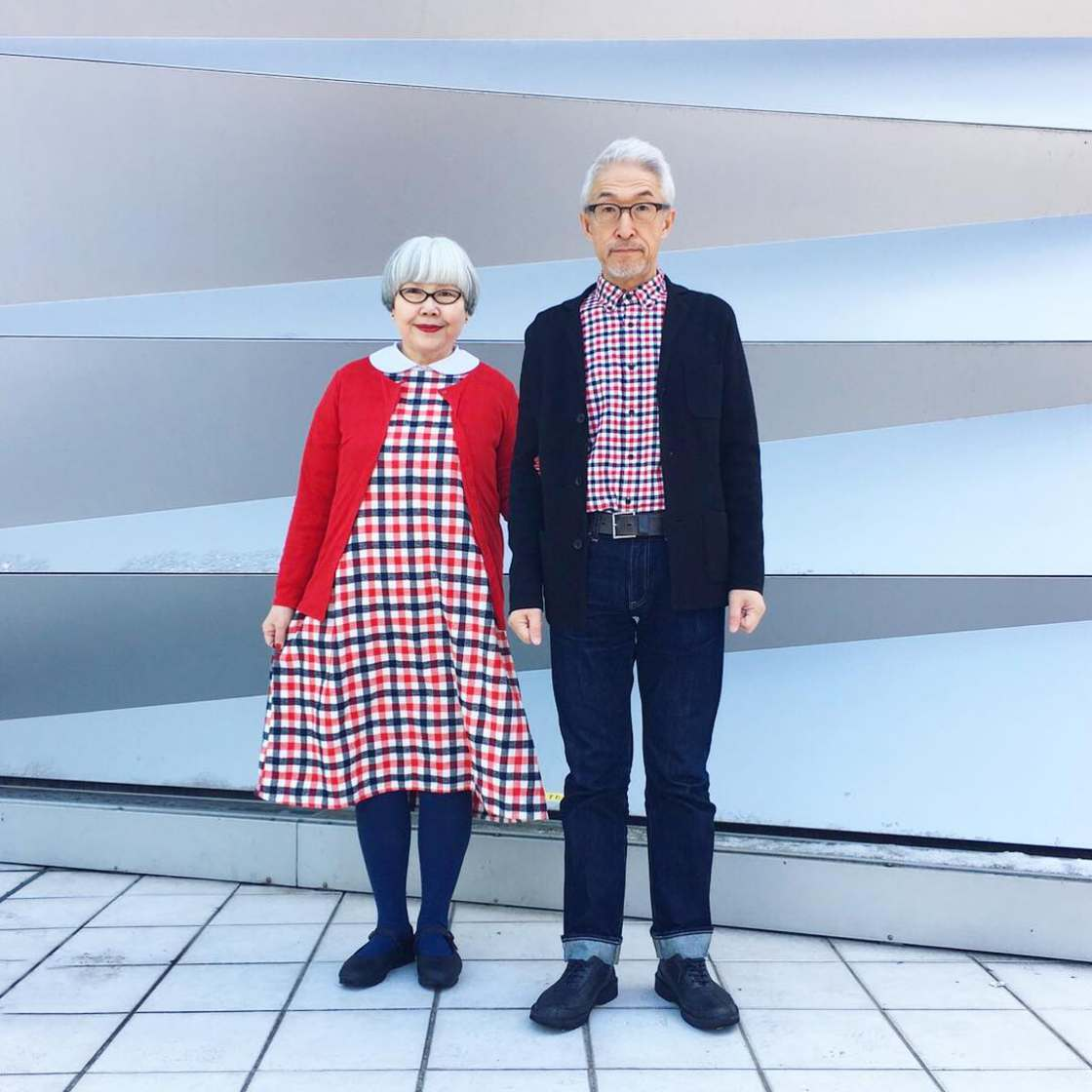 Married for 37 years, this adorable Japanese couple loves matching outfits (19 pics)
