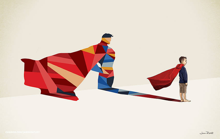 Children's Superheroes Shadows Posters (15 pics)