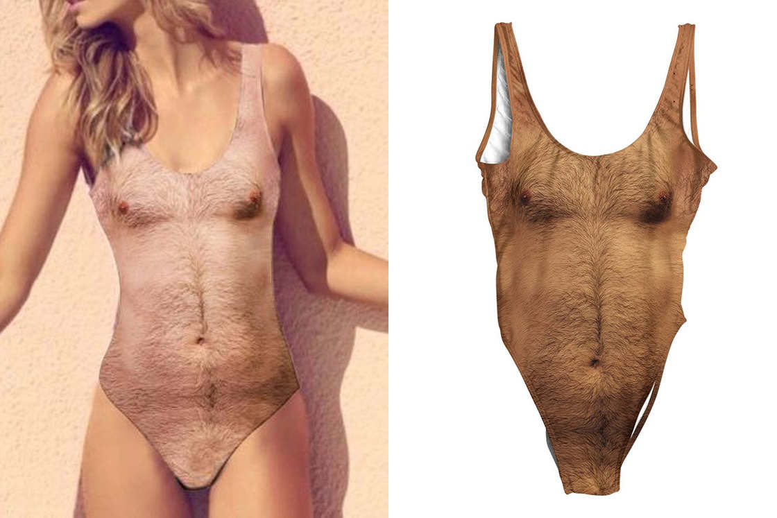 Chest Swimsuit – The swimsuit with a hairy torso (6 pics)
