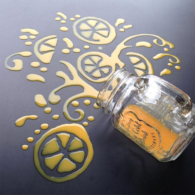 Stunning Artworks Made from Liquids