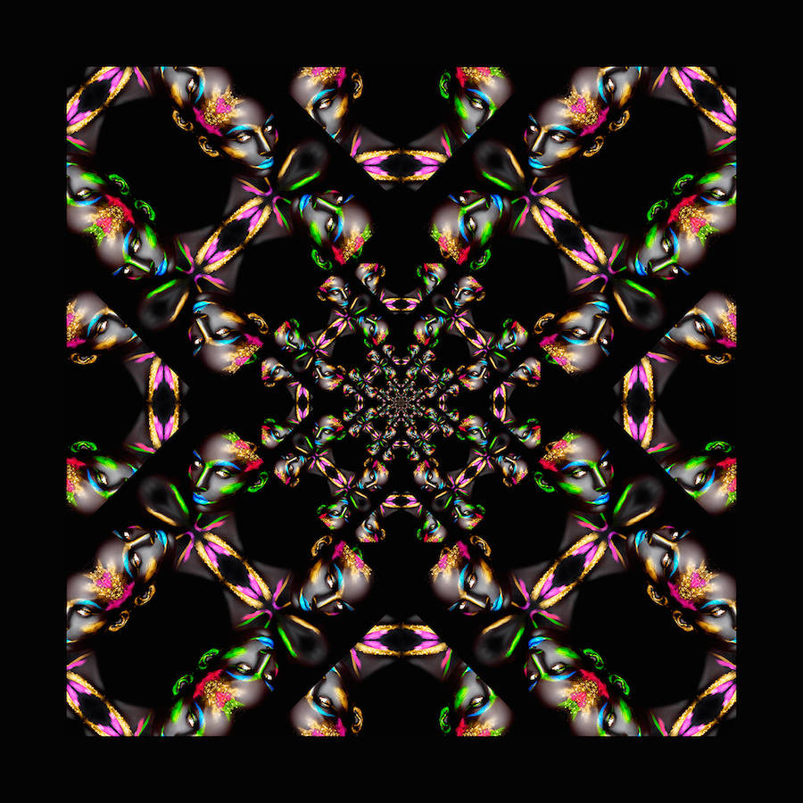 Abstract Kaleidoscopic Reflections by Caglar Mogultay