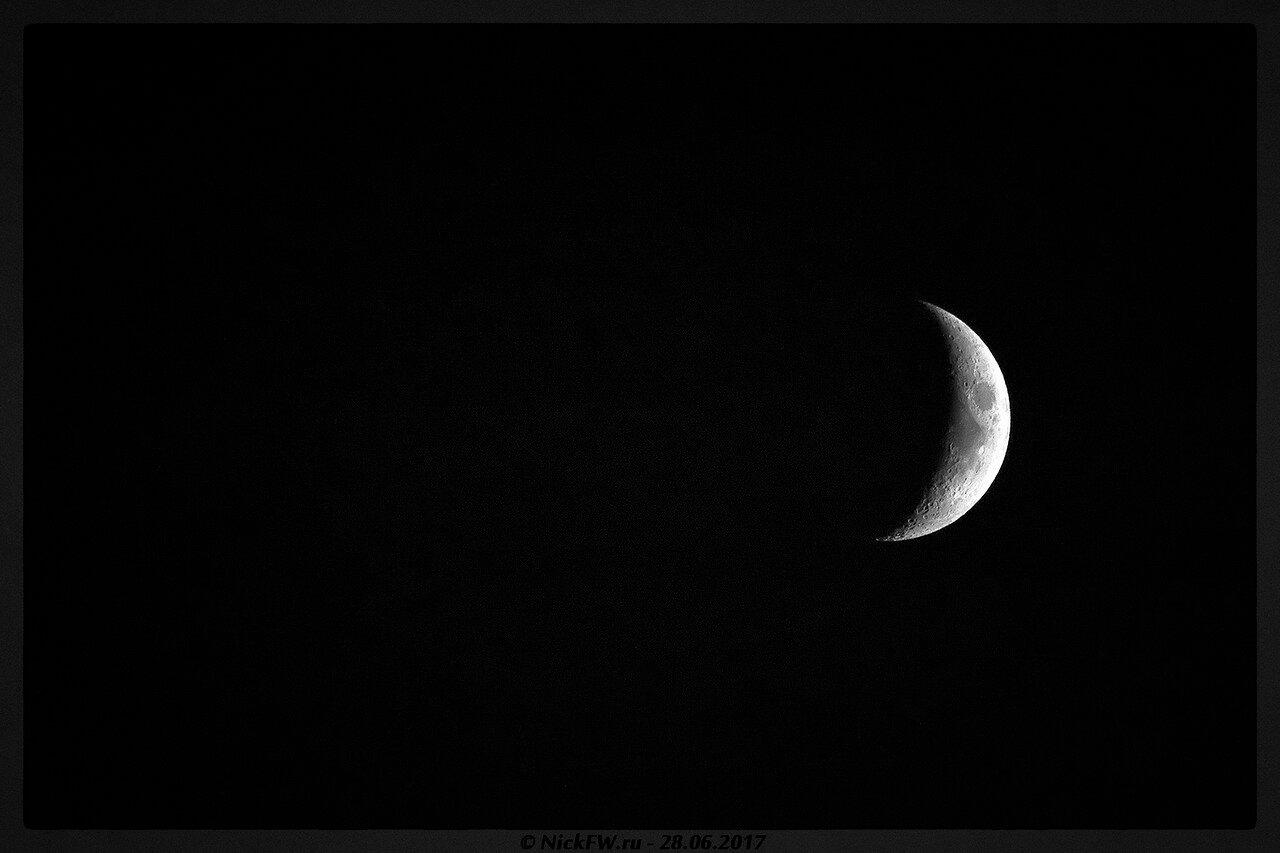 Растущая луна (© NickFW - 28.06.2017)