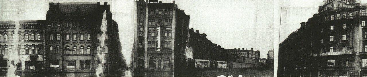 Вид на Лоскутный переулок и Моховую улицу 1933