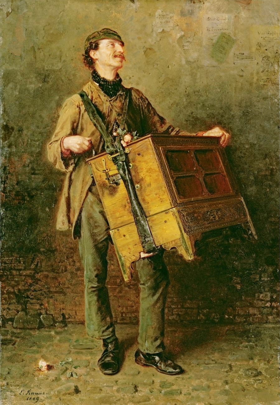 The Hurdy-Gurdy Man, 1869 (oil on canvas)