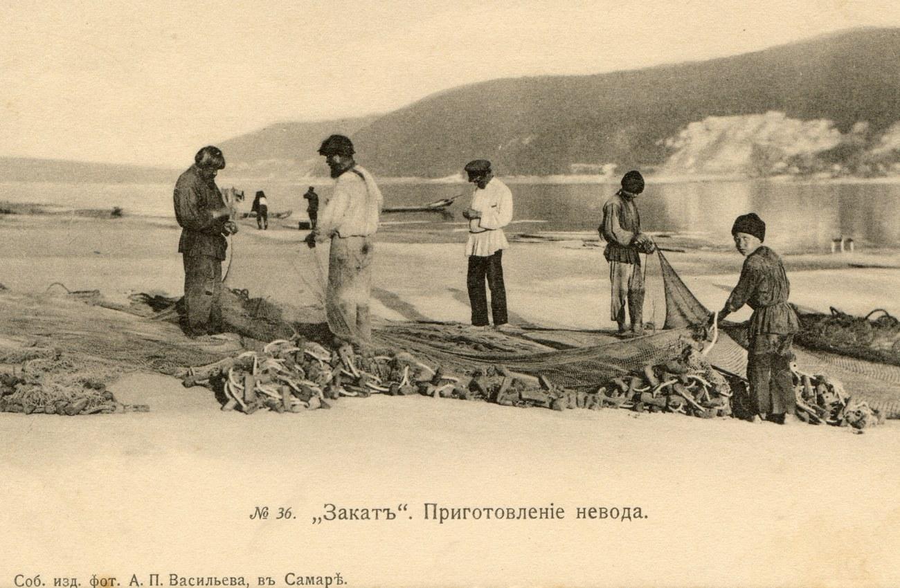 Окрестности Самары. Закат. Приготовление невода
