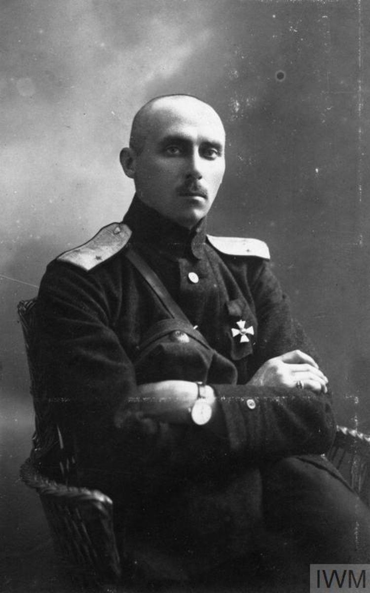 Портрет генерала Калемира, командира одной из казачьих конных бригад Донской армии