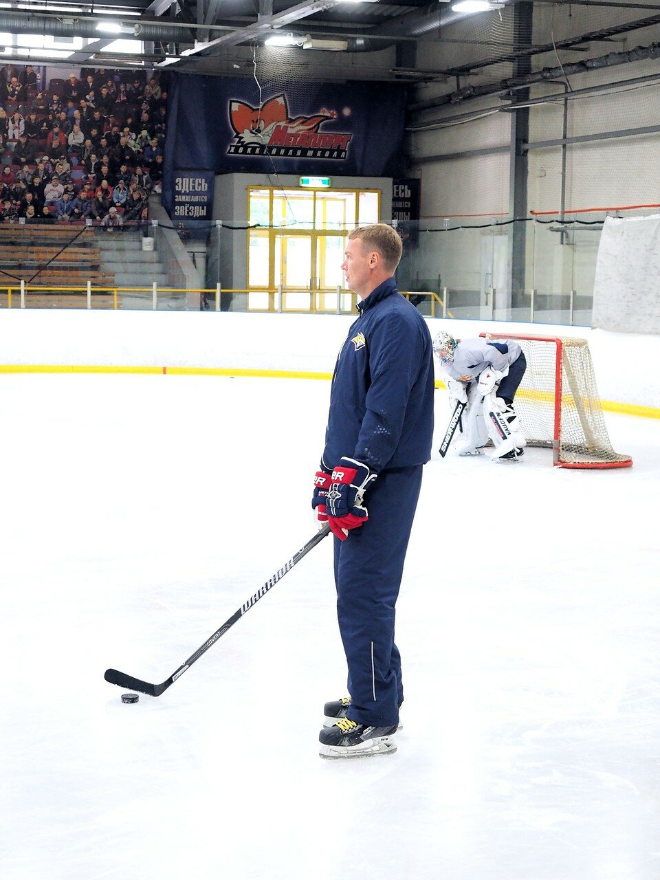 36 Одна из первых тренировок Металлурга сезона 2017-2018
