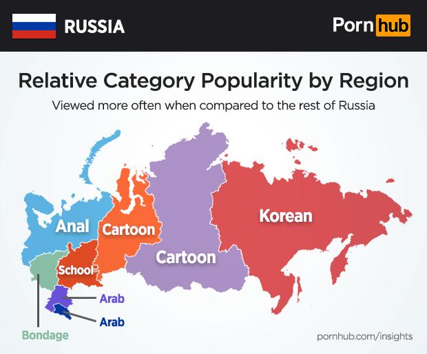 Pornhub изучил пронографические предпочтения россиян