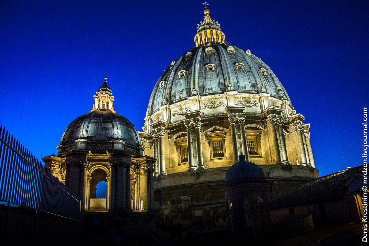 Ватикан. Купол собора Святого Петра.