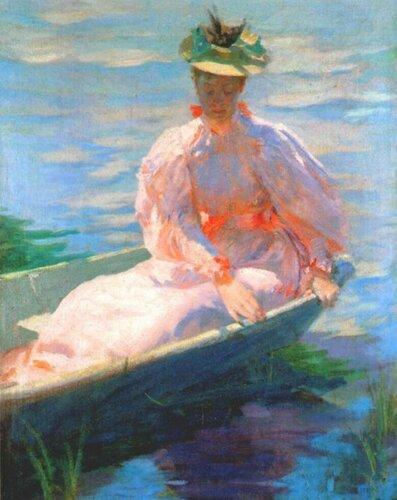 Лоутон Сайлас Паркер Lawton S. Parker; 1868 — 1954 Женщина в лодке.
