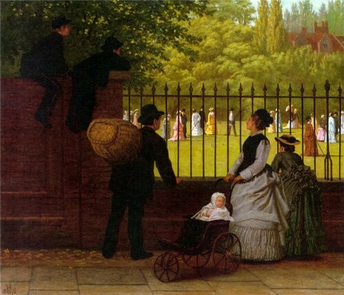 Ormsby Wood The croquet game 1876 г.