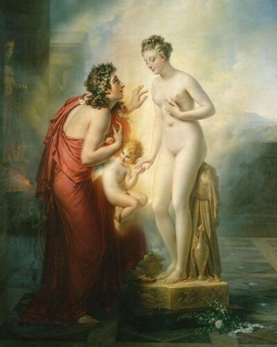 Anne-Louis Girodet de Roucy-Trioson (1767-1824, French) Pygmalion And Galatea Пигмалион И Галатея