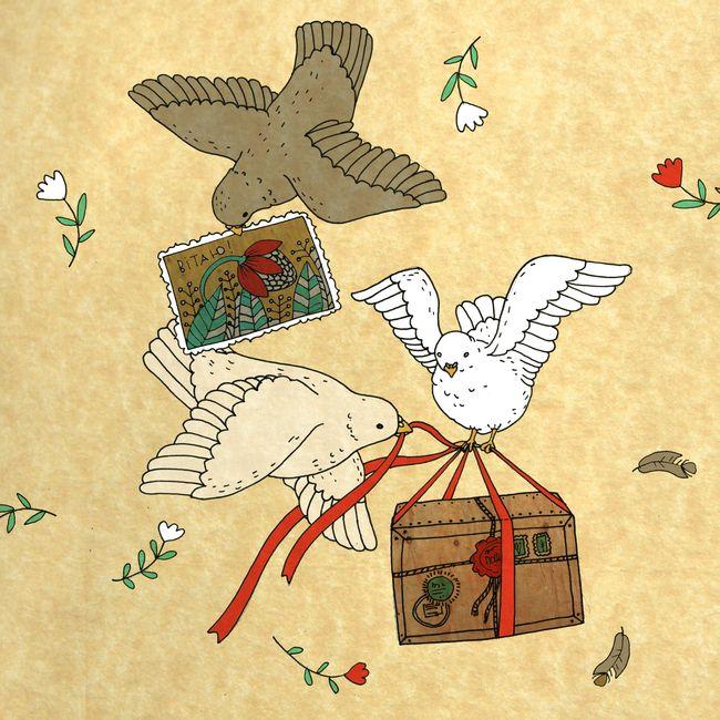 Игры с почтовыми открытками, народные костюмы