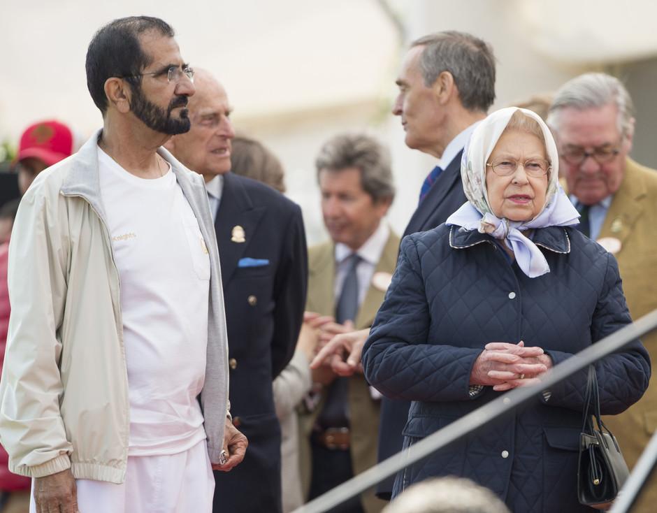 Шейх Мохаммед бин Рашид аль-Мактум и Елизавета II.