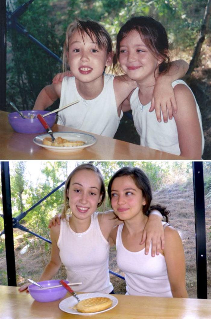 «Мы с лучшей подругой 10 лет спустя».
