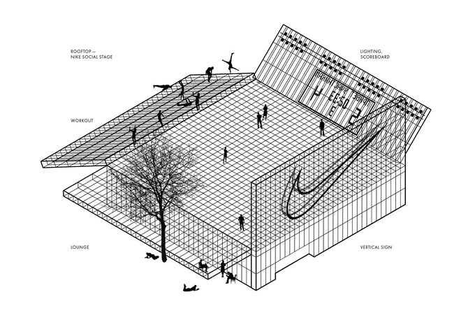 В Москве были представлены архитектурные проекты будущего спортивного центра Nike