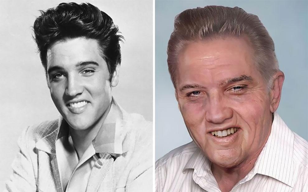 Элвис Пресли (8 января 1935 — 16 августа 1977), «король рок-н-ролла», умер в возрасте 42 лет в 1977