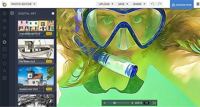 © befunky.com  Онлайн-редактор склассическим набором инструментов, эффектами, возможностью на