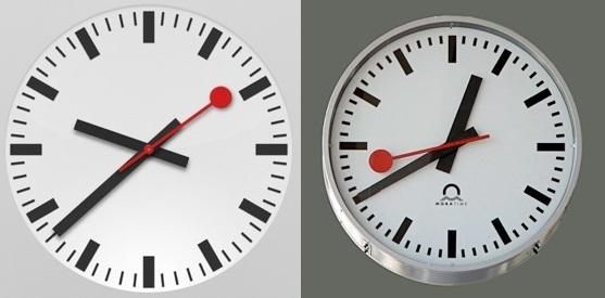 Оказывается, эти часы настолько известны, что их решила позаимствовать компания Apple, когда модерни