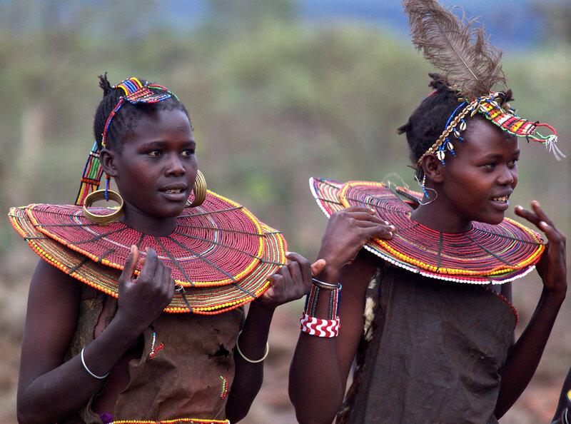 Женщины племени покот (Кения).