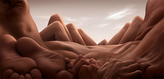 Landscapes Formed From Human Bodies by Carl Warner (6 pics)