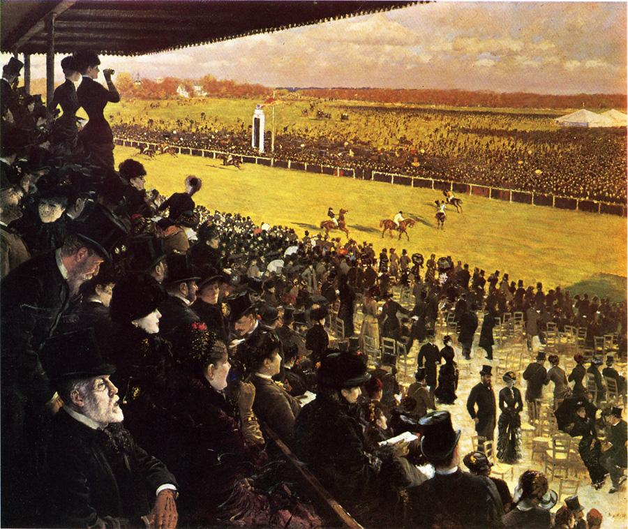 3 Giuseppe de Nittis    The Races at Longchamps from the Grandstand.jpg
