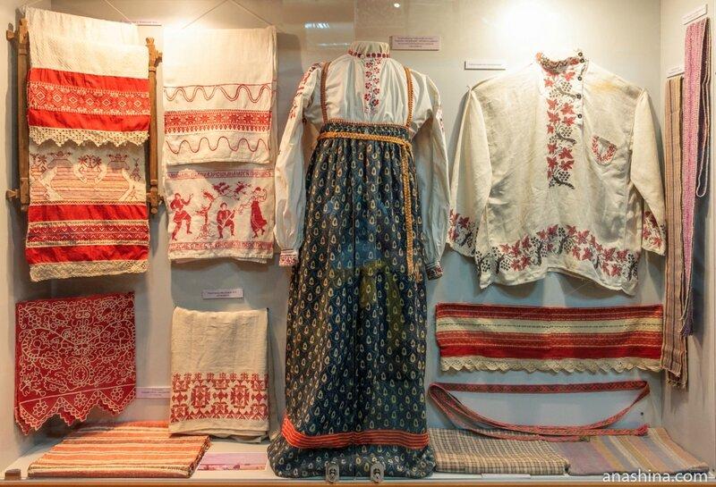 Вытегорская крестьянская одежда и вышивки, Вытегорский краеведческий музей, Вытегра