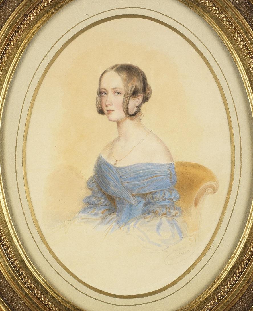 1385037044-portrait-eines-jungen-m-dchen-in-blauem-schulterfreiem-kleid-aquarell-auf-papier-signiert-m.-peter (1).jpg