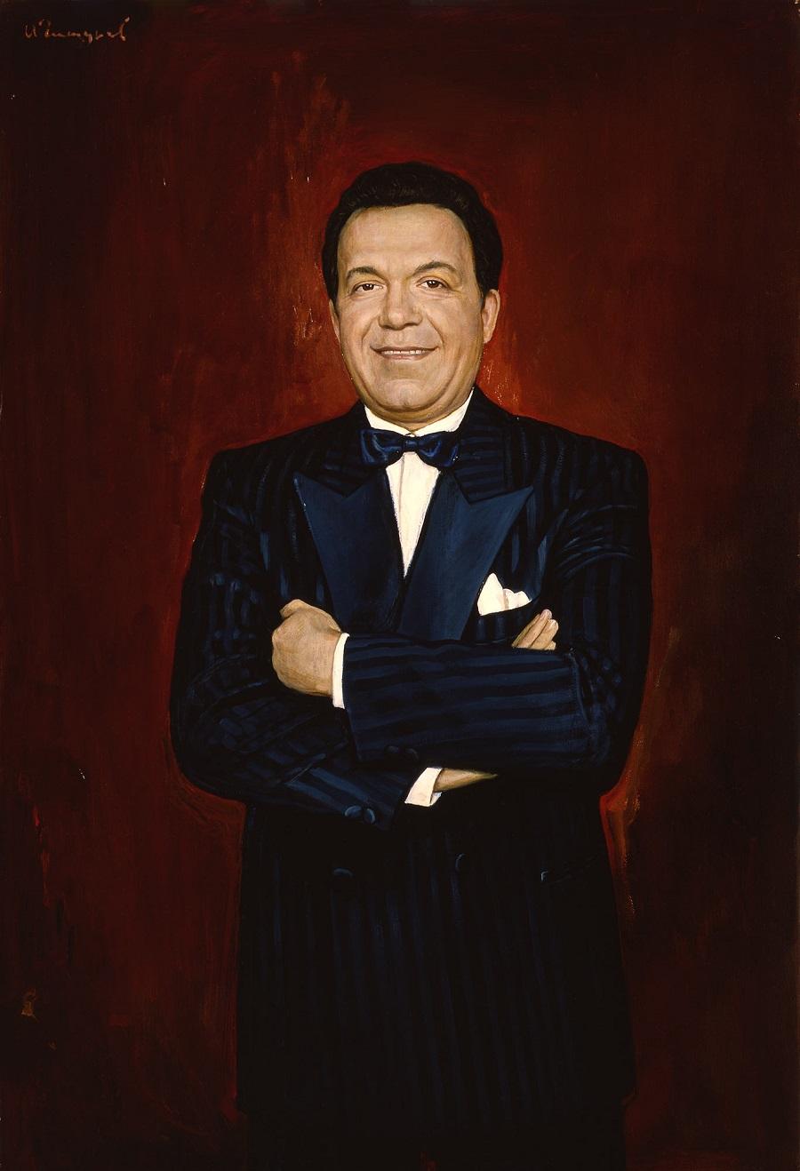 Портрет Иосифа Кобзона   1990 год.