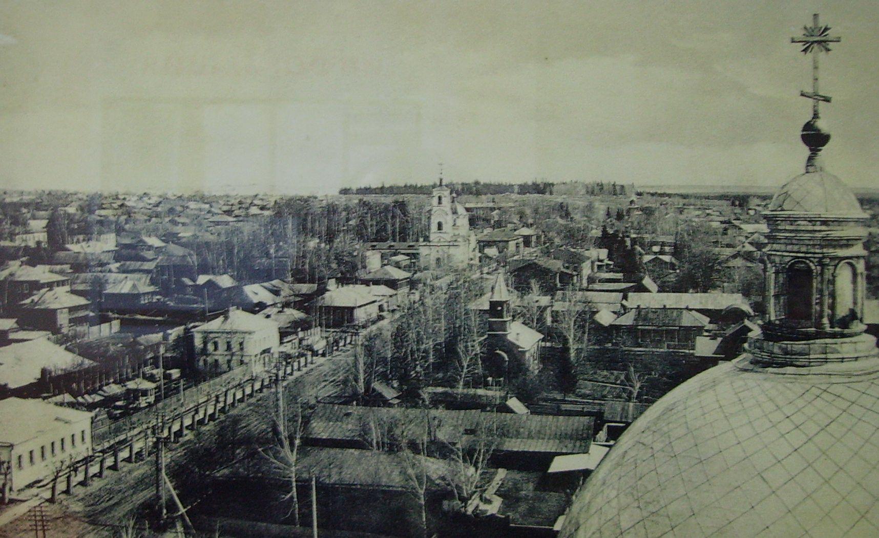 Вид на Троицкую улицу с колокольни Александро-Невского собора