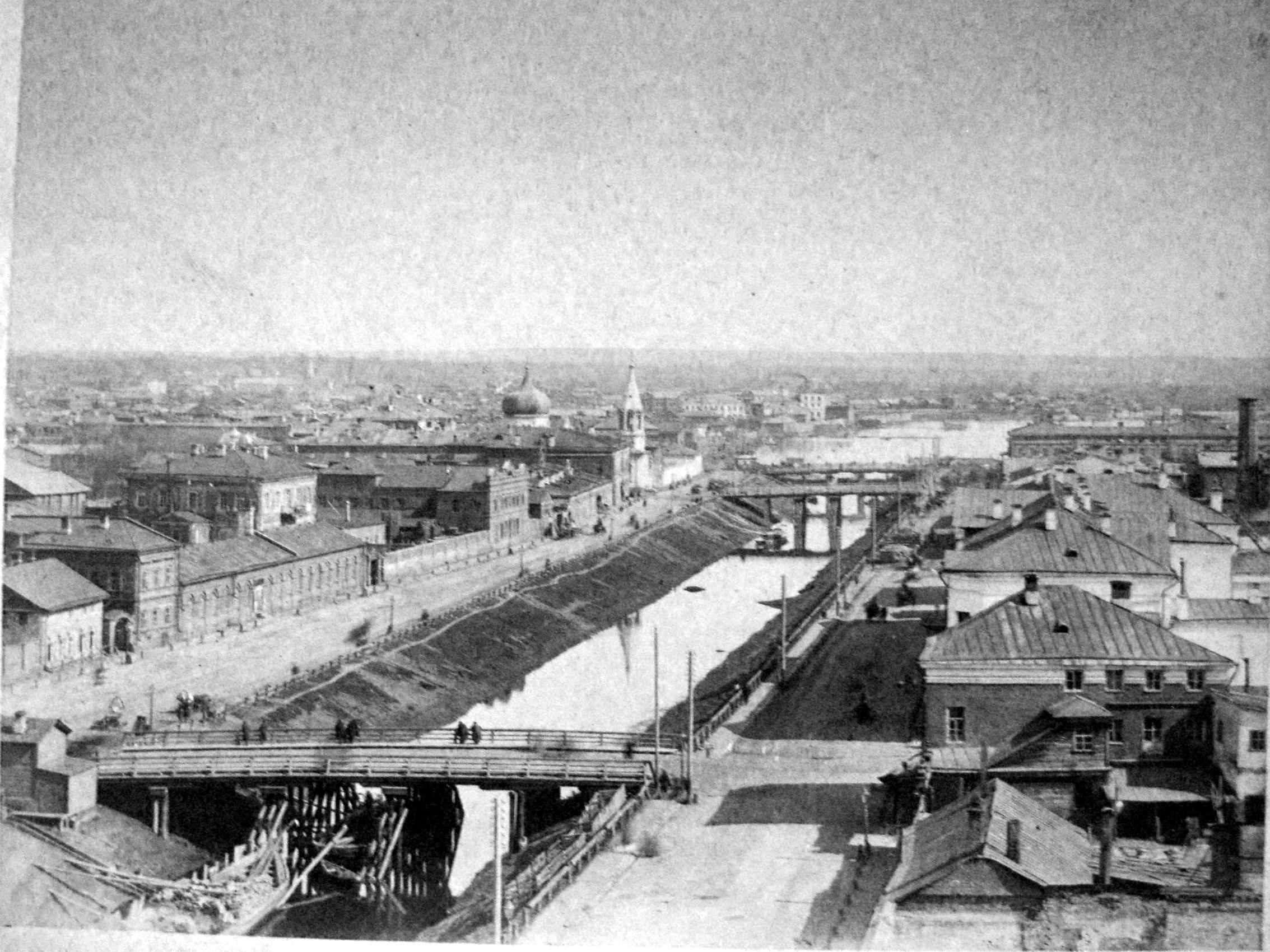 1880-е. Протока Булак и озеро Кабан с Реального училища