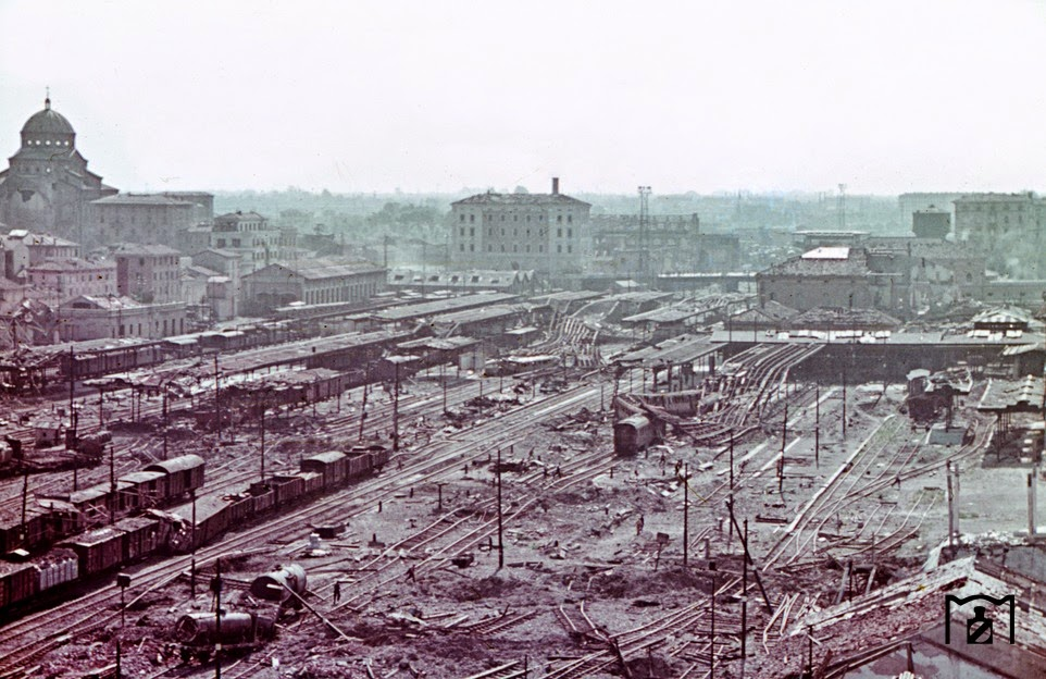 The elevated position clarifies the extent of the destruction in an American air attack.jpg