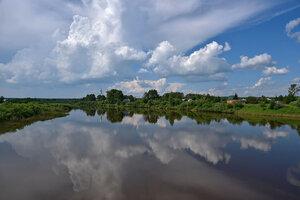 Река Тура  у села Меркушино.