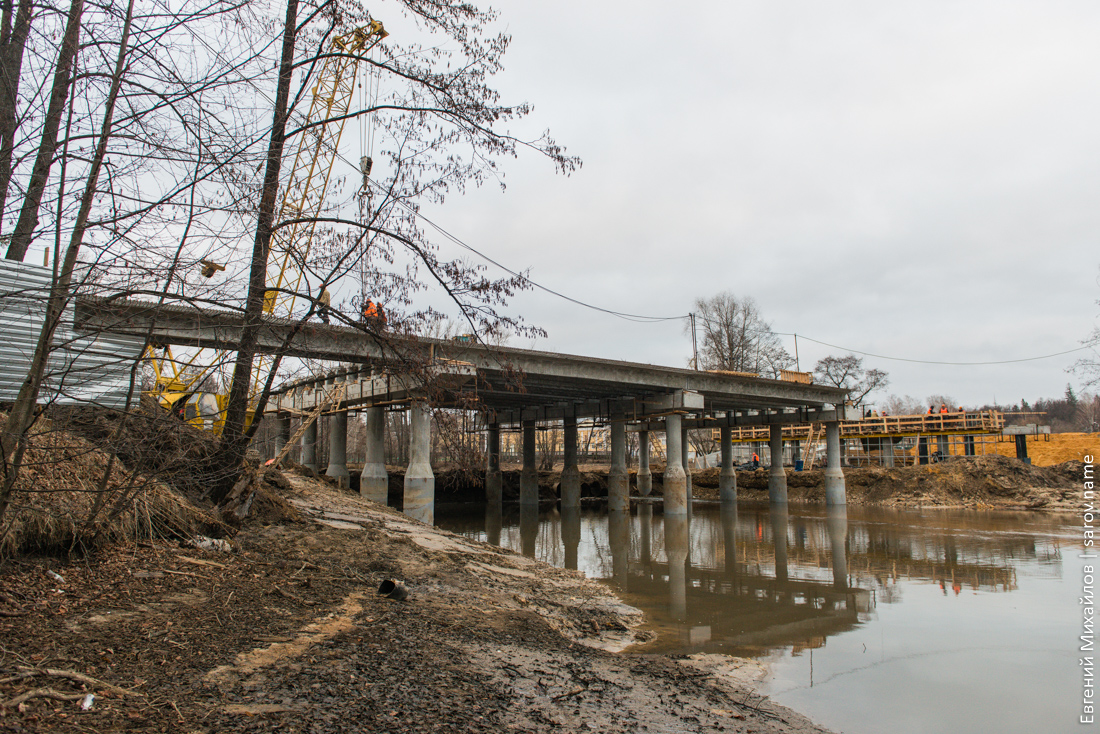 строительство моста через Сатис