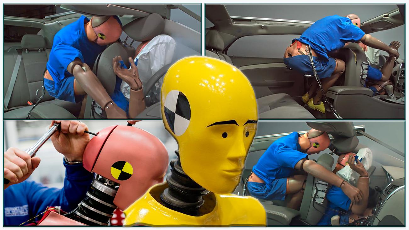 Фронтальный краш-тест с пассажиром