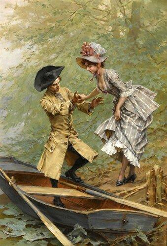 Голландский художник Frederick Hendrik Kaemmerer (1839-1902)