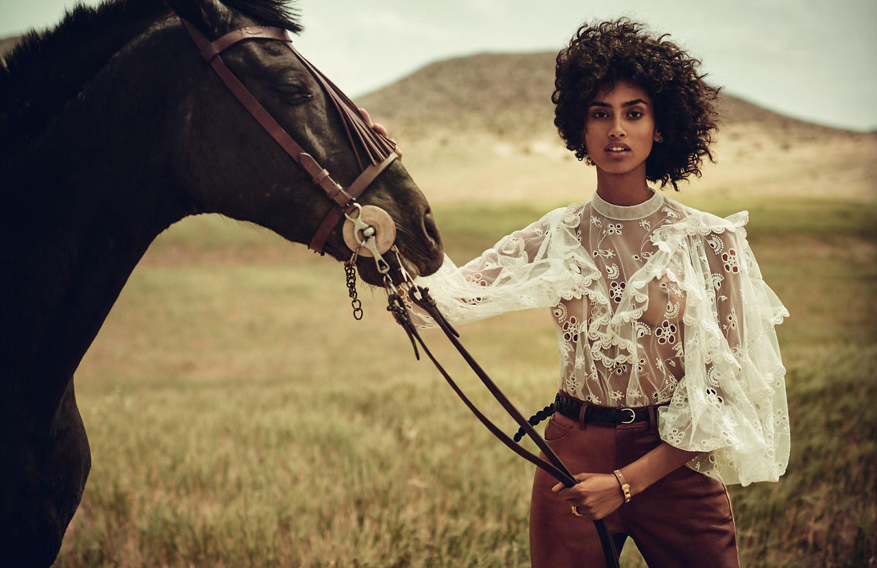 Vogue Spain July 2017 / модель Imaan Hammam фото Boo George