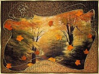 Открытки. Осень. Листопад