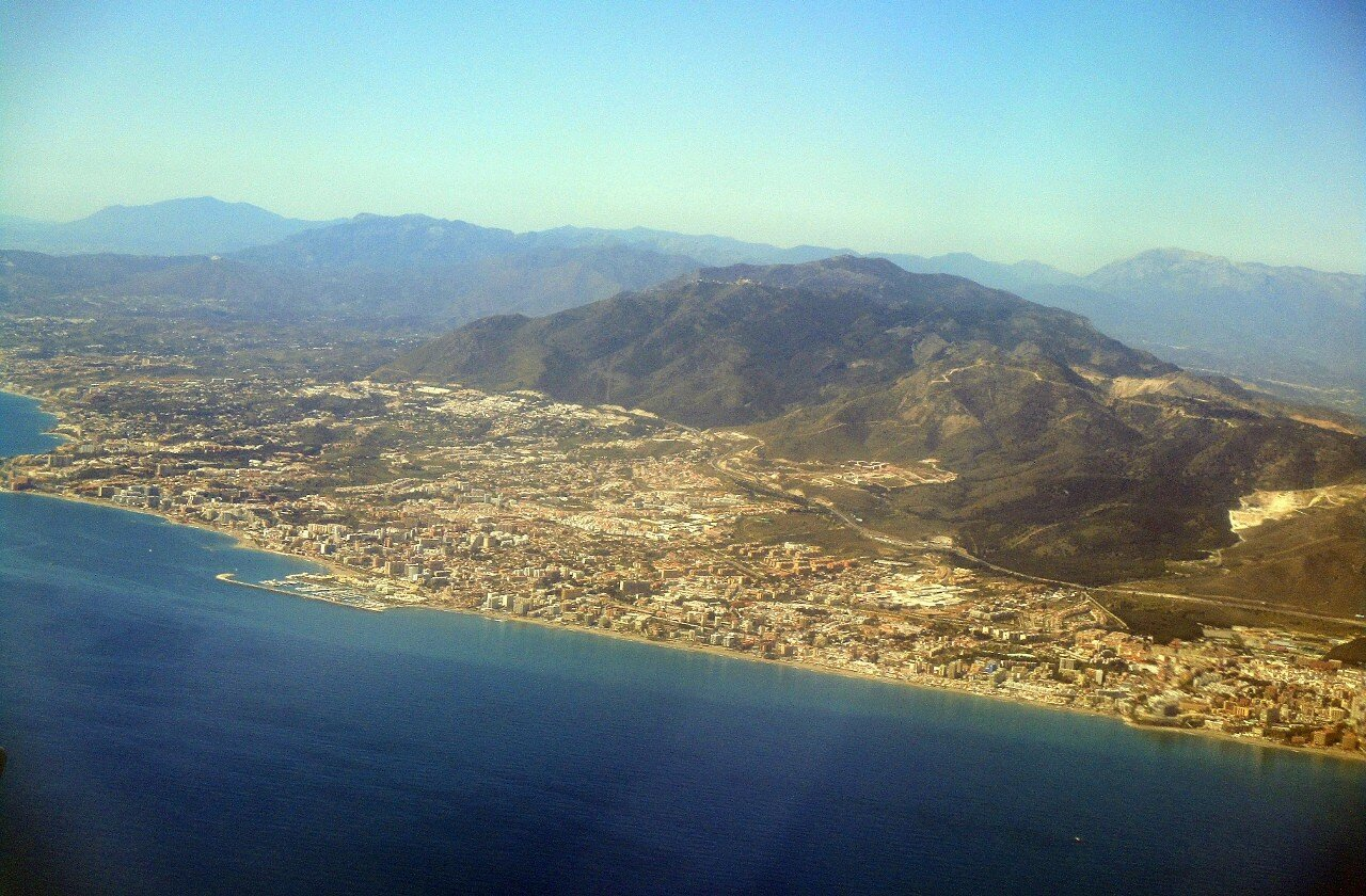 Malaga. View from the airplane