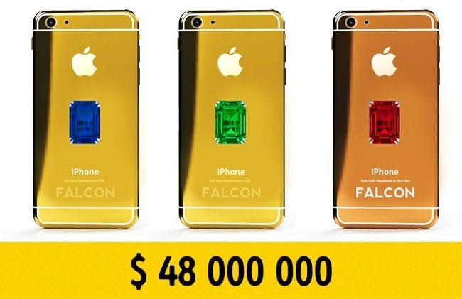 © falconluxury.com  Это непросто iPhone6, аVIP-смартфон, покрытый золотом или платиной иин