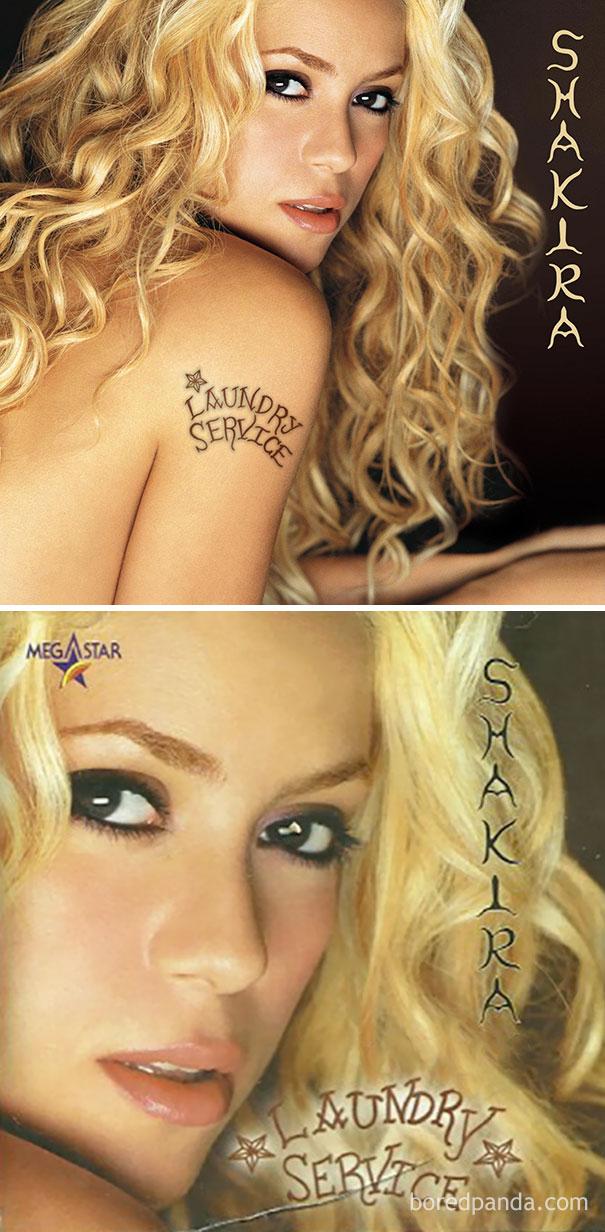 Шакира с альбомом Laundry Service.