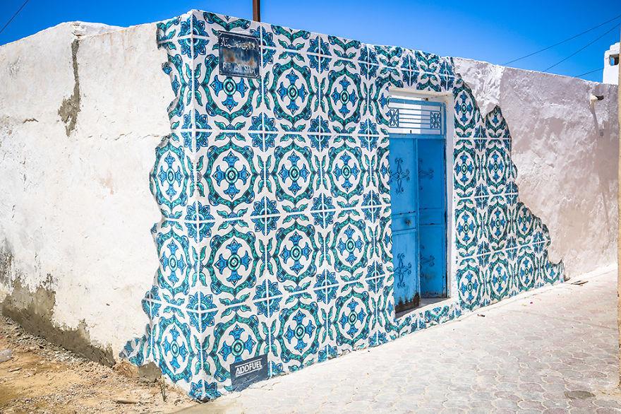 150 художников превратили тунисский городок в настоящий музей уличного искусства (20 фото)