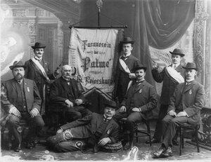 Группа учредителей и организаторов гимнастического общества Пальма, основанного в 1863 г