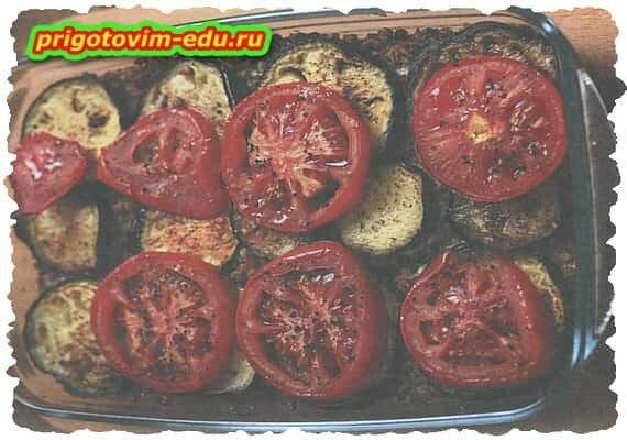 Гречка под овощами в духовке