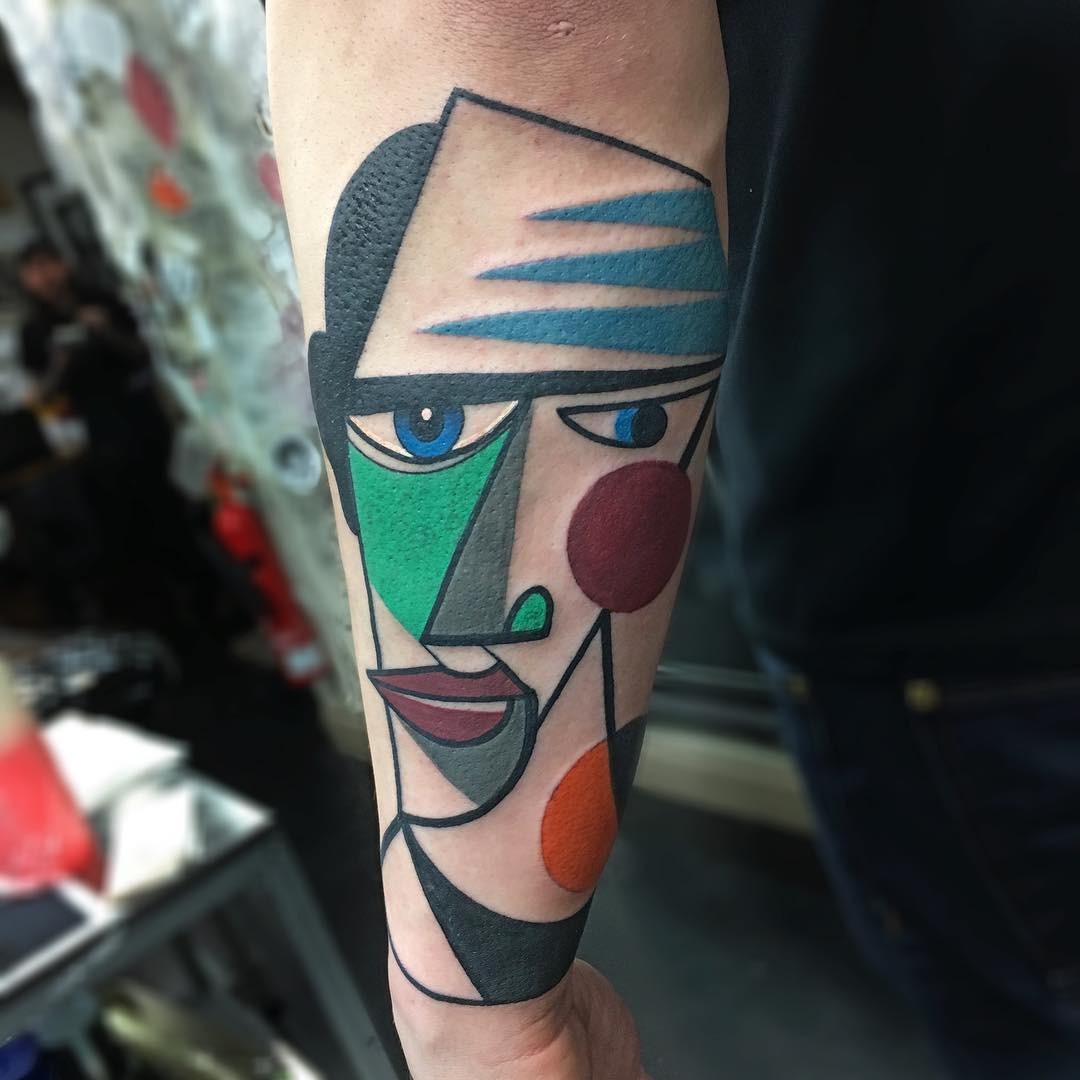 Colorful Cubist Tattoos Inked by Mike Boyd (10 pics)