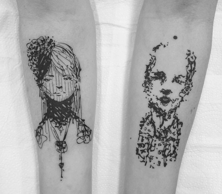 Accurate Characters Tattoos (8 pics)