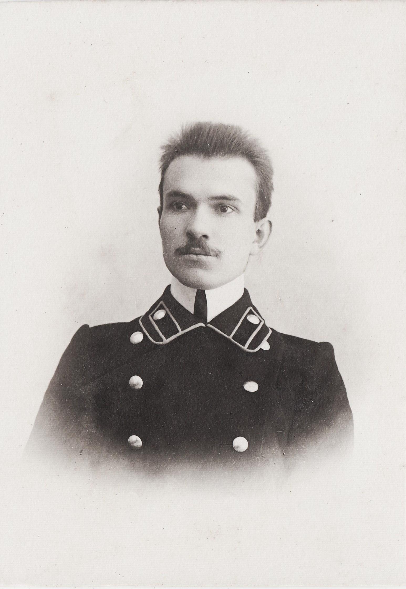 Студент Покровский Василий Васильевич. II отделение 2 разряд